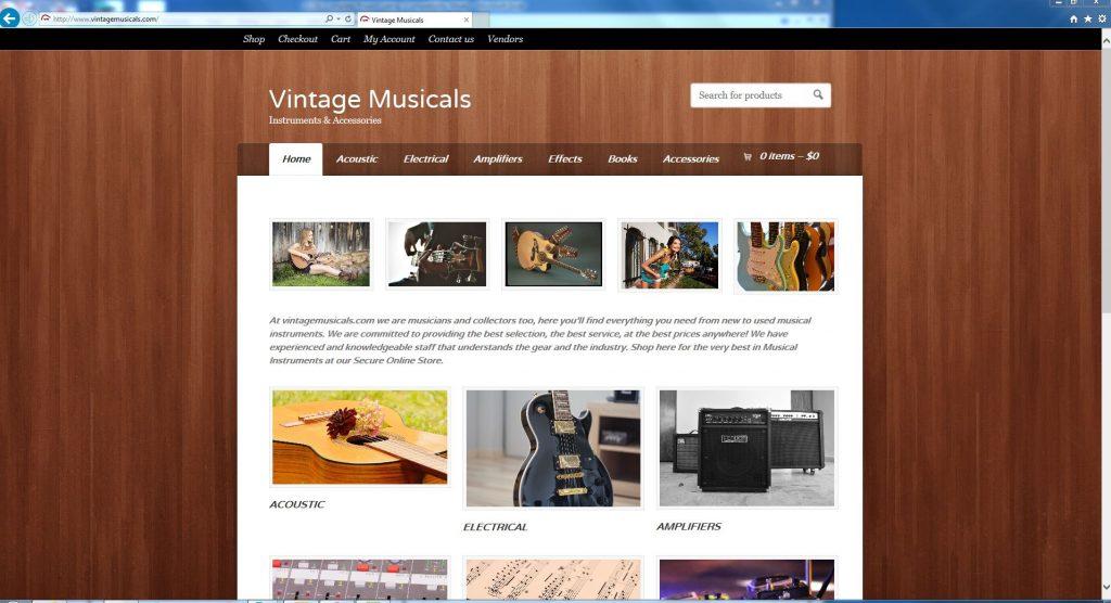 Vintage Musicals Online Store